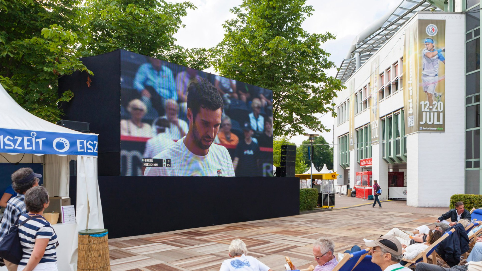 Outdoor LED Screen auf dem Tennis Turnier am Rothenbaum