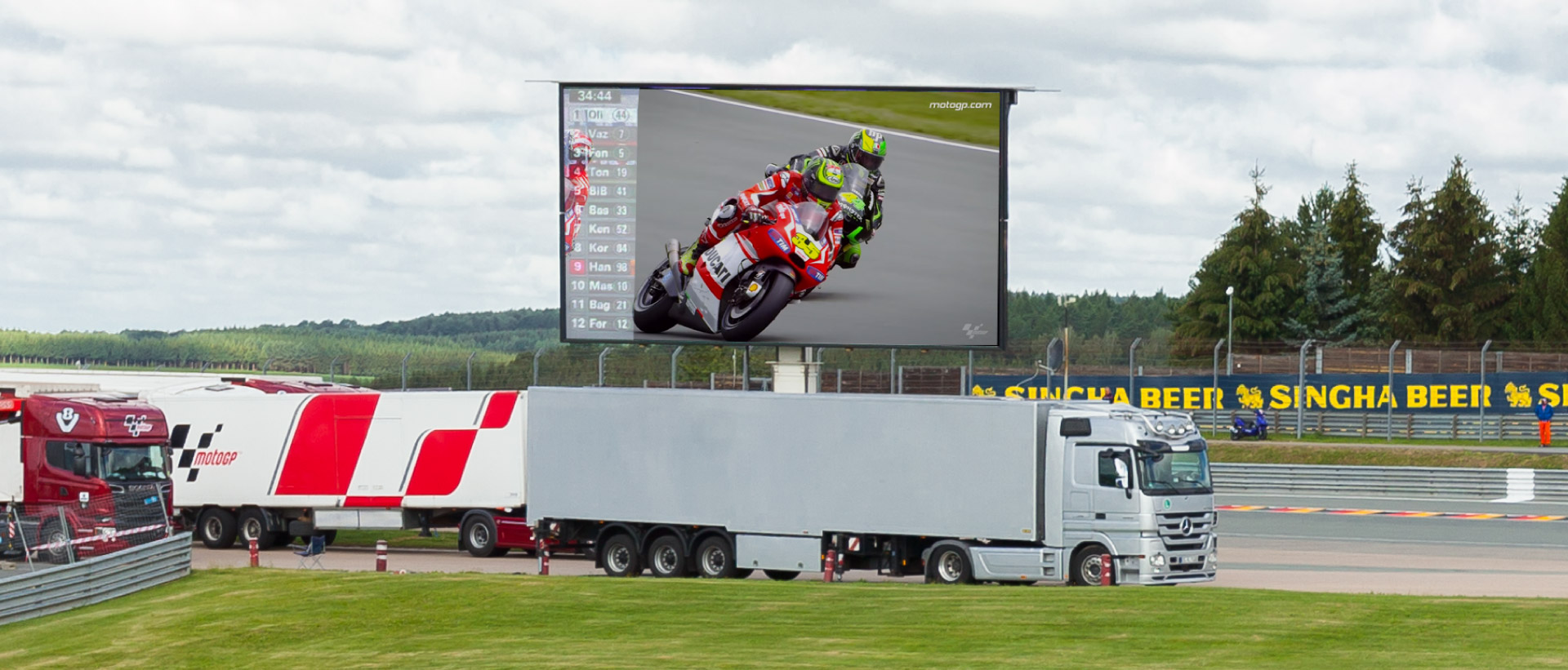 LED-Trailer 50qm Motorcycle Grand Prix Sachsenring 2015