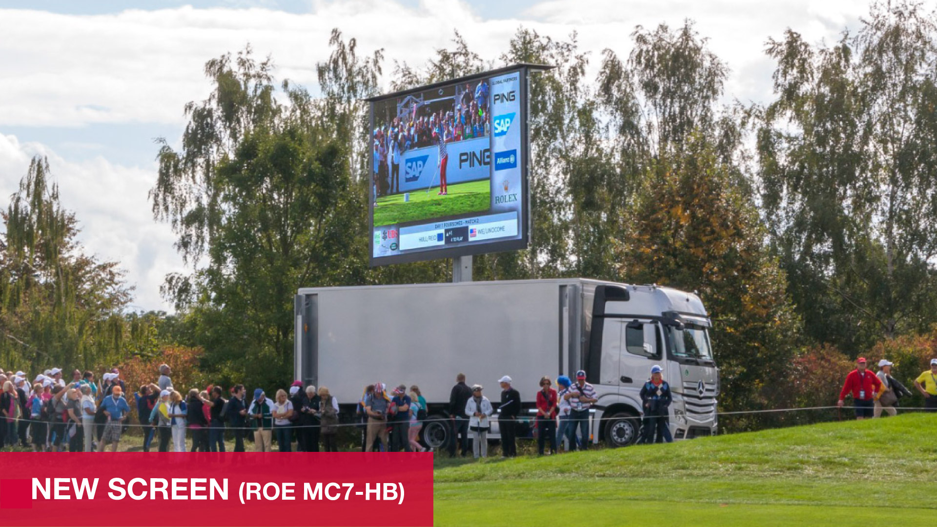 The LED-Truck 30sqm from PRG  with a new and even better screen.
