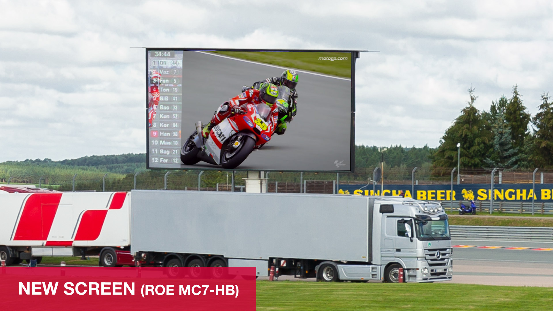 PRG´s 50m² LED truck now has a new, even better screen (ROE MC7-HB)