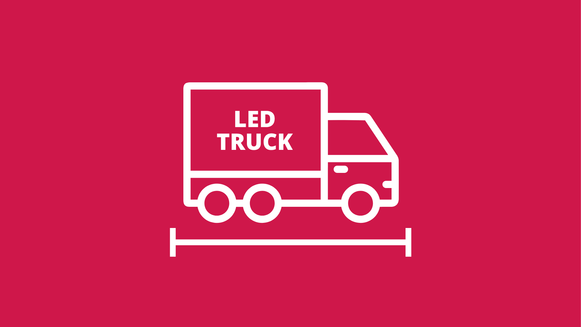 Our LED trucks and LED trailers are space saving.